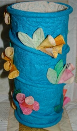 Quilted vase for a Living Threads workshop