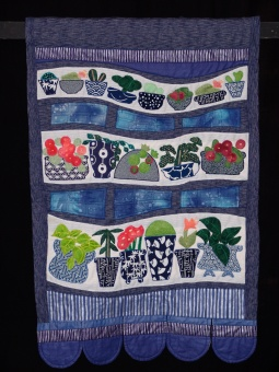 Wall hanging based on Bob Evans and Sons courtyard in Colombia Street flower market