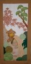 Door hanging with motifs from my neighbours' gardens in Shukugawa
