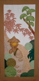 Door hanging with motifs from my neighbours' gardens in Shukugawa