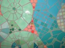 Joy's mural in her Murcia bathroom - detail