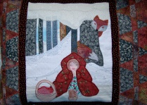 Little Red Riding Hood cushion for a Living Threads workshop
